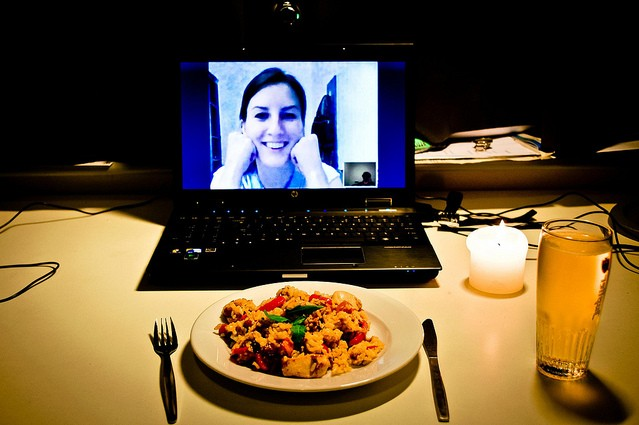Ukrainian girls talking on Skype to foreign men searching for love and marriage