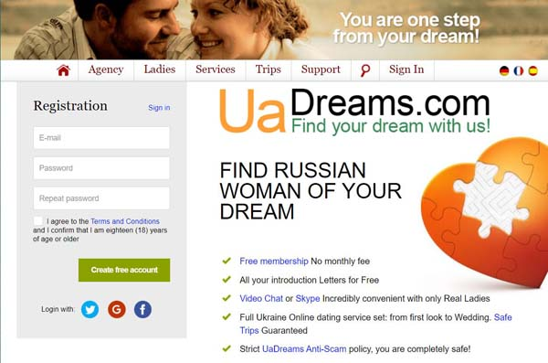 Uadreams.com (Review about russian ukraine women)